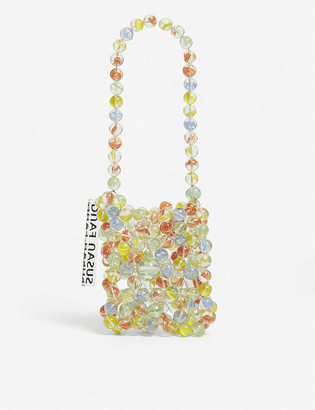 Susan Fang Bubble baby beaded top handle bag