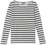 Petit Bateau Womens striped linen T-shirt