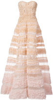 J. Mendel ruched a-line ball gown