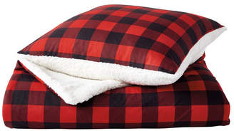 G.H. Bass Buffalo Check Sherpa Throw & Pillow 2-Pack
