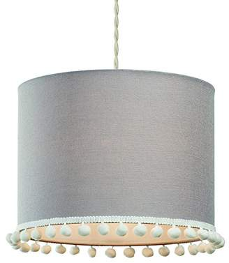 Village At Home Pom Cylinder Light, Polycotton, Light Blue