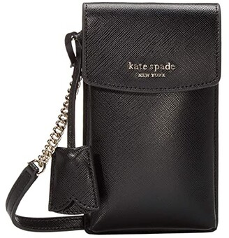 Kate Spade Spencer North/South Phone Crossbody (Black) Handbags