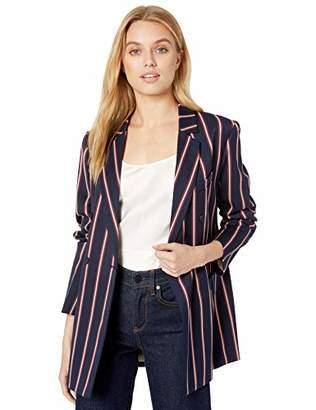 BCBGMAXAZRIA Women's Nautical Striped Blazer