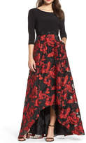 Adrianna Papell Rose Maxi Gown