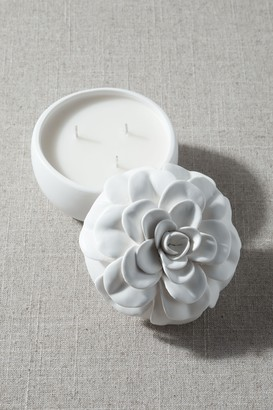 New View Ceramic Flower Candle