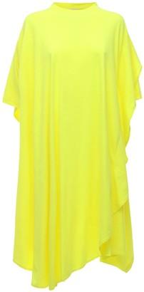 Balenciaga Asymmetric Cotton Blend Jersey Dress