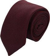 Barneys New York Men's Grenadine Neck Tie-RED