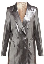 BLAZÉ MILANO Nova Double-breasted Metallic-jersey Blazer - Womens - Silver
