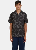Lanvin Men's Floral Printed Bowling Shirt In Navy