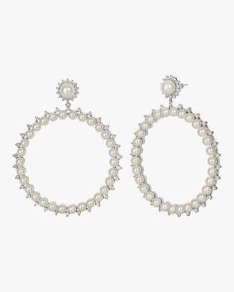 Fallon Pearl Drama Hoop Earrings