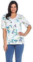 Quacker Factory Butterfly Printed Knit Hoodieand Tank Set