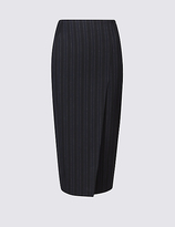 Limited Edition Pinstripe A-Line Midi Skirt
