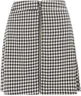 Dorothy Perkins Black Gingham Zip Skirt