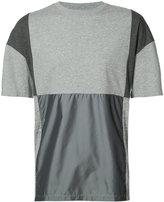 Mostly Heard Rarely Seen patchwork T-shirt - men - Cotton/Nylon - M