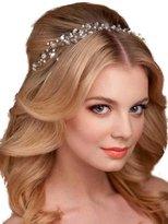 Missgrace Crystal Cluster Bridal Wedding Headband Hair Vine -Wedding hair Accessorice