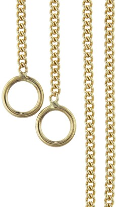 Marla Aaron Medium Yellow Gold Curb Chain Necklace