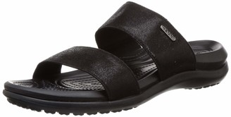 Crocs womens Women's Capri Two-strap Flip Flop | Casual Comfortable Sandals for Women Water Shoe