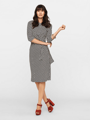 Diane von Furstenberg Pearl Silk-Jersey Knee-Length Dress
