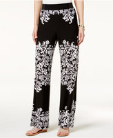 INC International Concepts Petite Printed Wide-Leg Pants, Only at Macy's