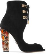 Paul Andrew Nehir Embellished Velvet Sandals - Black