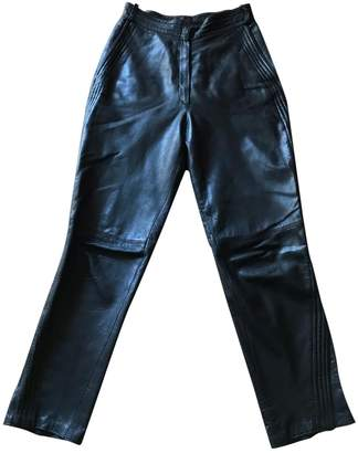 Gianni Versace Black Leather Trousers for Women Vintage