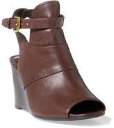 Ralph Lauren Abelle Calfskin Wedge Sandal
