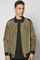 Boohoo Ma1 Padded Bomber W Popper Front
