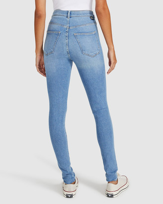 Dr. Denim Moxy Light Jeans Blue Ripped