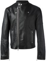 Diesel Black Gold zip up biker jacket - men - Leather/Rayon - 46