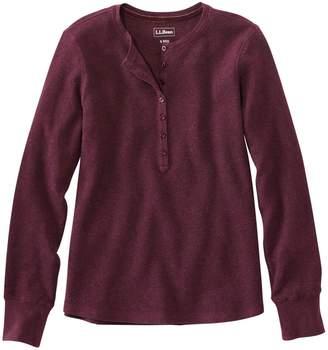 L.L. Bean L.L.Bean Waffle-Knit Henley Shirt