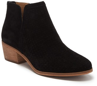 Susina Kyle Perforated Suede Ankle Bootie