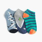 J.Crew Boys' shark ankle socks three-pack