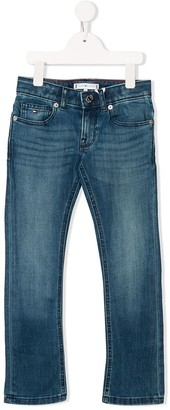 Tommy Hilfiger Junior straight-leg denim jeans