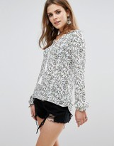Glamorous Tie Front Blouse