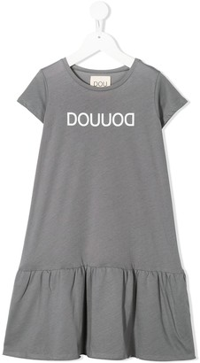 Douuod Kids Logo Short Dress