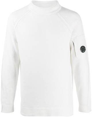 C.P. Company Round Neck Logo-Patch Jumper