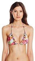 Ted Baker Women's Imarita Floral Swirl Triangle Bikini Top