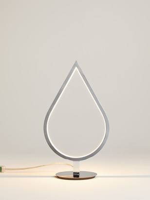 John Lewis & Partners Teardrop LED Table Lamp, Chrome