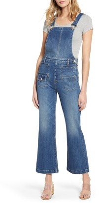 7 For All Mankind Georgia Crop Flare Overalls
