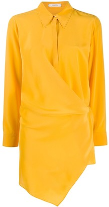 Dorothee Schumacher Long Sleeve Contrasting Panel Silk Blouse