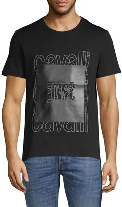 Just Cavalli Logo Graphic Cotton Tee