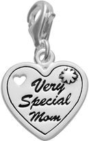 "Personal Charm Sterling Silver ""Very Special Mom"" Heart Charm"
