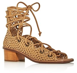 Stella McCartney Women's Faler Woven Gladiator Block-Heel Sandals