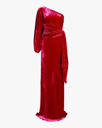 Maria Lucia Hohan Amaris Velvet One Shoulder Gown