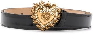 Dolce & Gabbana Devotion leather belt