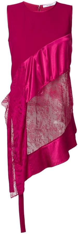 Givenchy lace insert asymmetric blouse