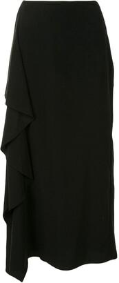 Yohji Yamamoto Draped Side Skirt
