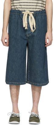 Loewe Blue Denim Drawstring Shorts