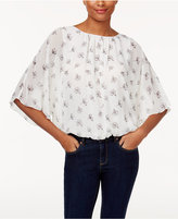 Vince Camuto Printed Batwing Top