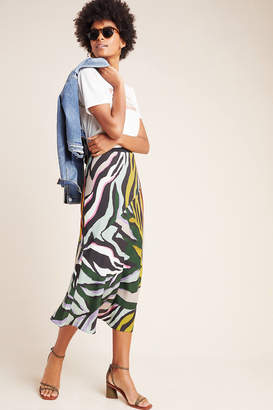 Corey Lynn Calter Abstract Bias Midi Skirt